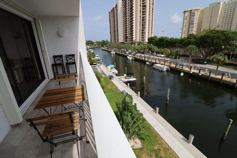 Balcony looking east