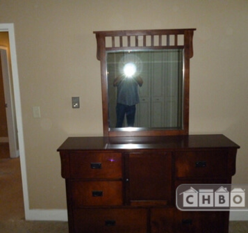dresser plus a matching chest of drawers