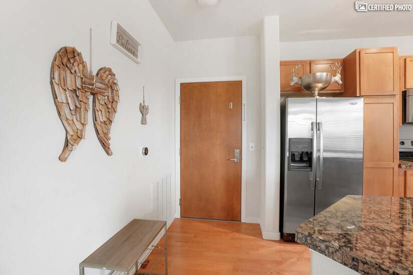 Entry to your stylish condo.