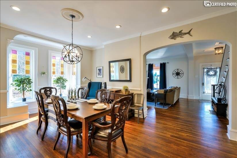Dining Area - Seating for 6 (Room for 8) + Wine Hutch