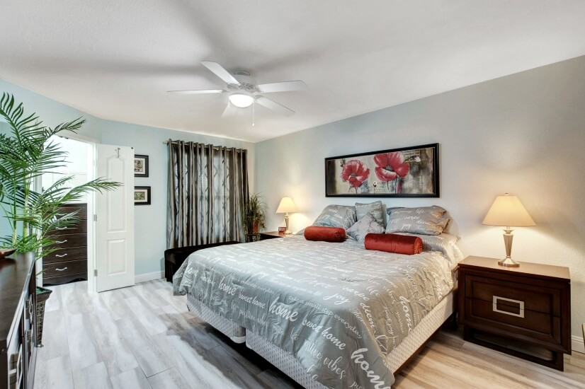 Spacious Master Suite. King Sized Sleep Number Mattress.