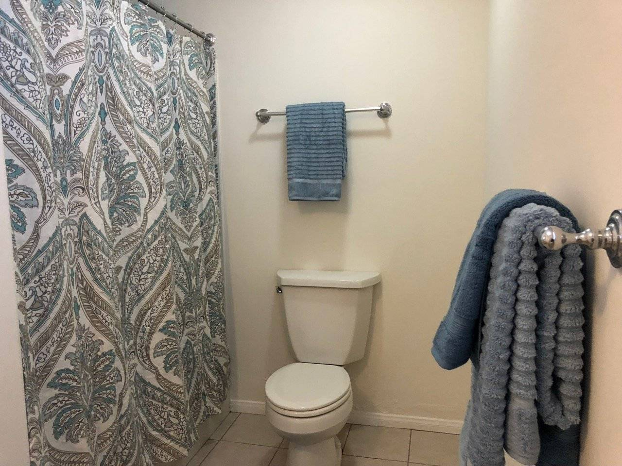 that master bath is quite large , shower and commode
