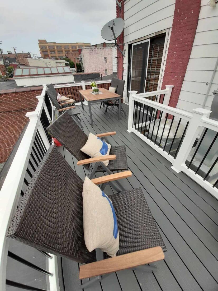 Deck overlooking Water Street