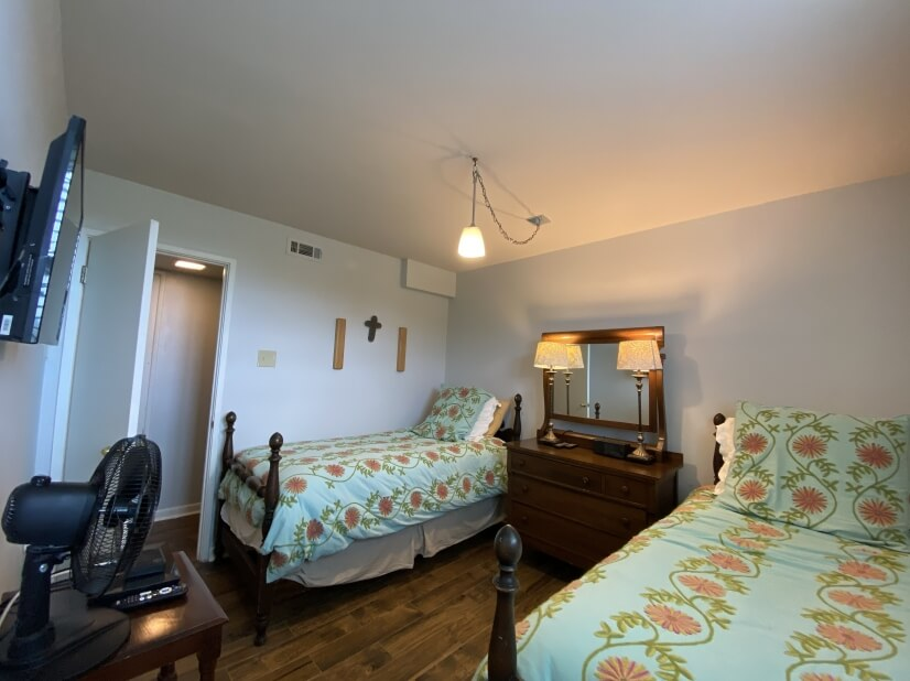 """Bedroom 3 with 40"""" TV and DVD player"""
