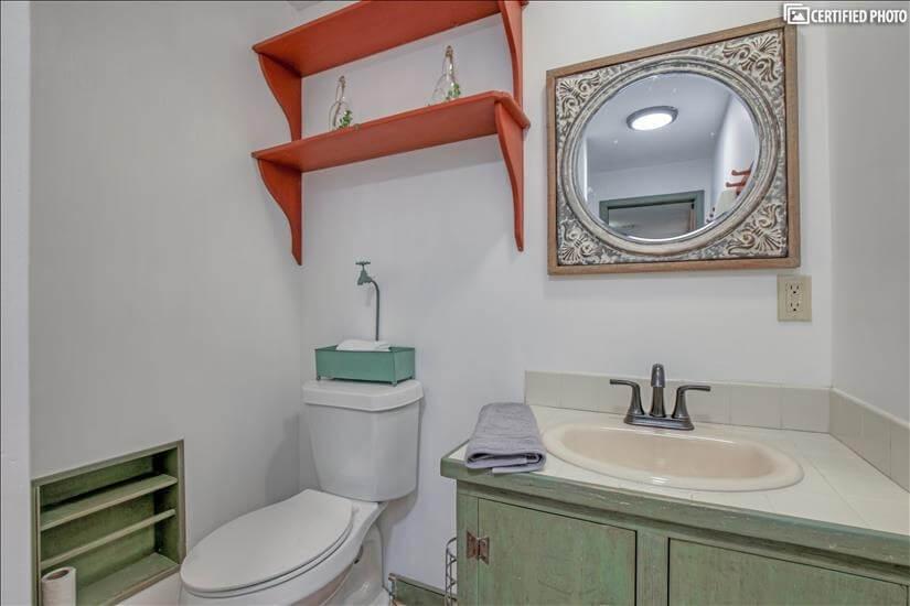 Bathroom area, Lower Level