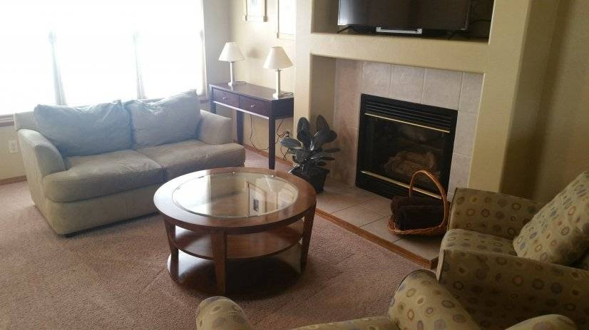 Main Level Living room with gas fireplace
