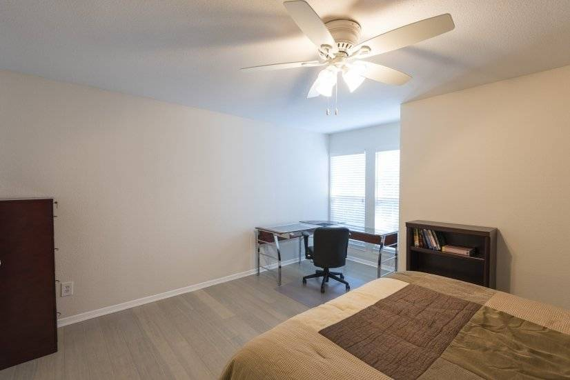 Furnished Master bedroom includes office space
