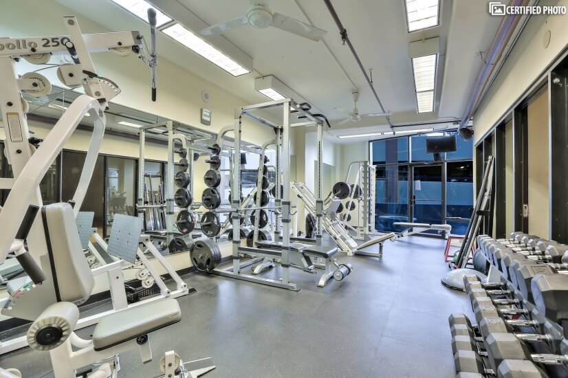 Exercise Room and Racquet Ball Court on Fifth Floor