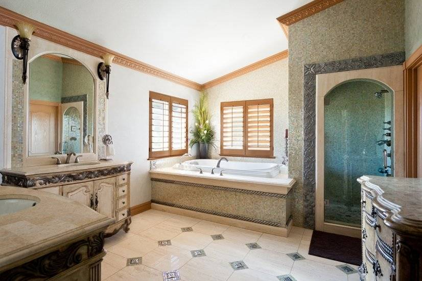 Master Bath with a steam shower