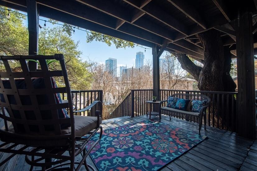 Deck Overlooking Downtown Austin