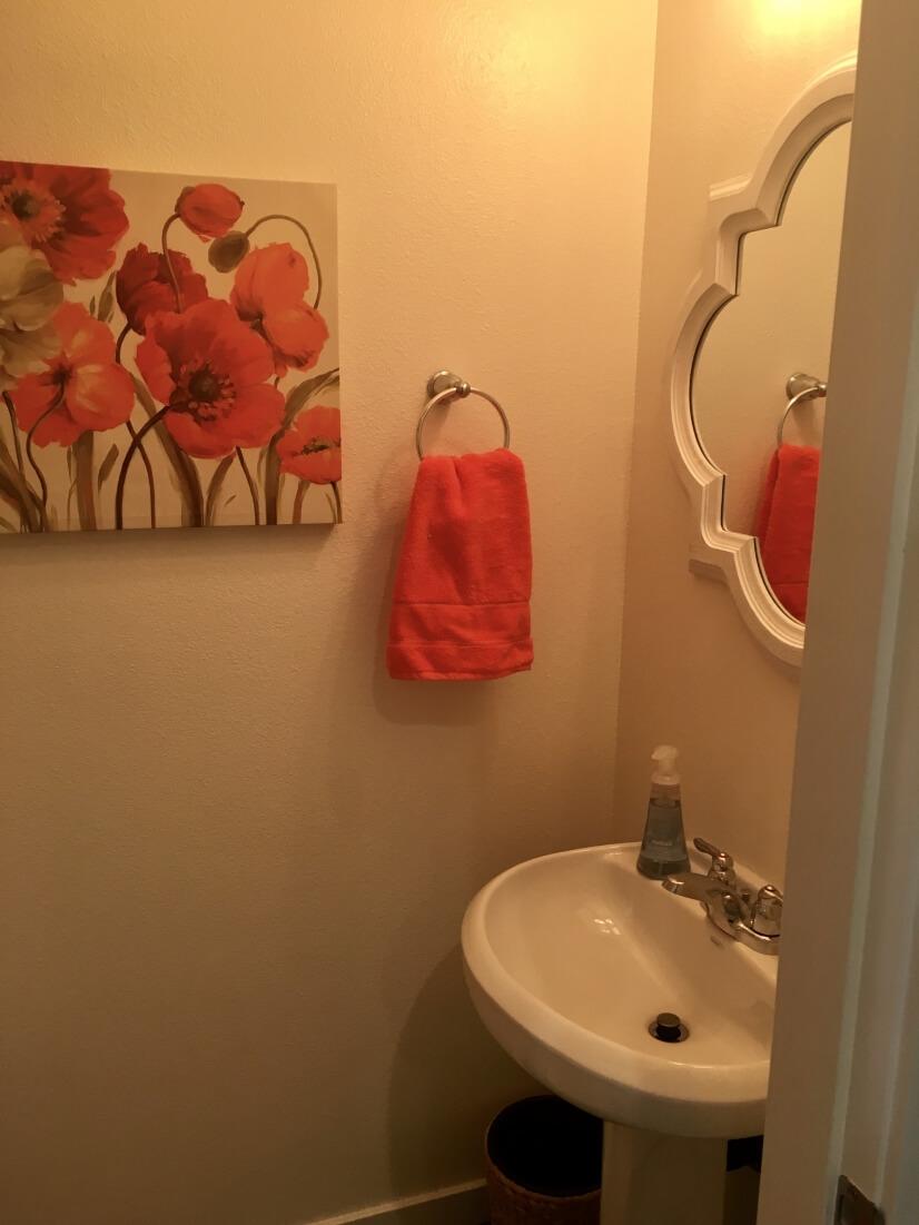 "Main floor ""poppies"" powder room"