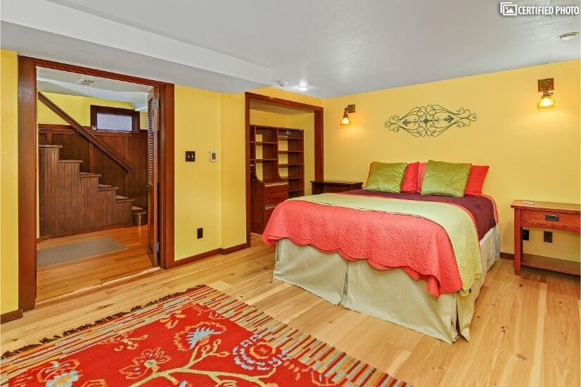 Basement Bedroom heated floors.