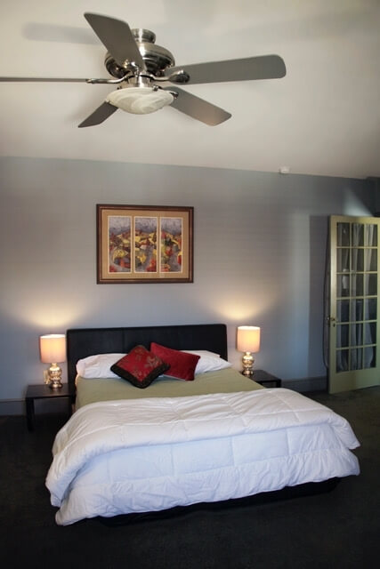 Second Bedroom with Queen Bed, walk in closet & private bath