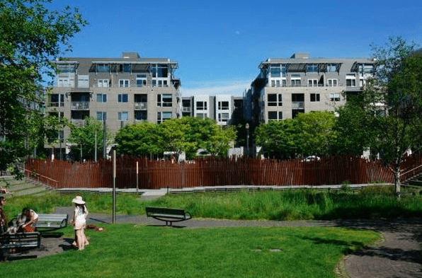 Tanner Springs Park with your Lexis Condo in