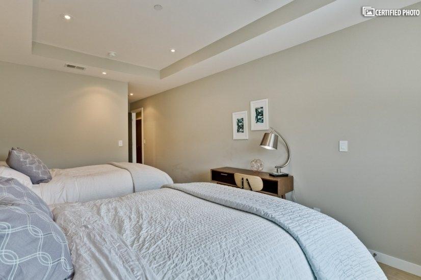 Master bedroom has TV added.