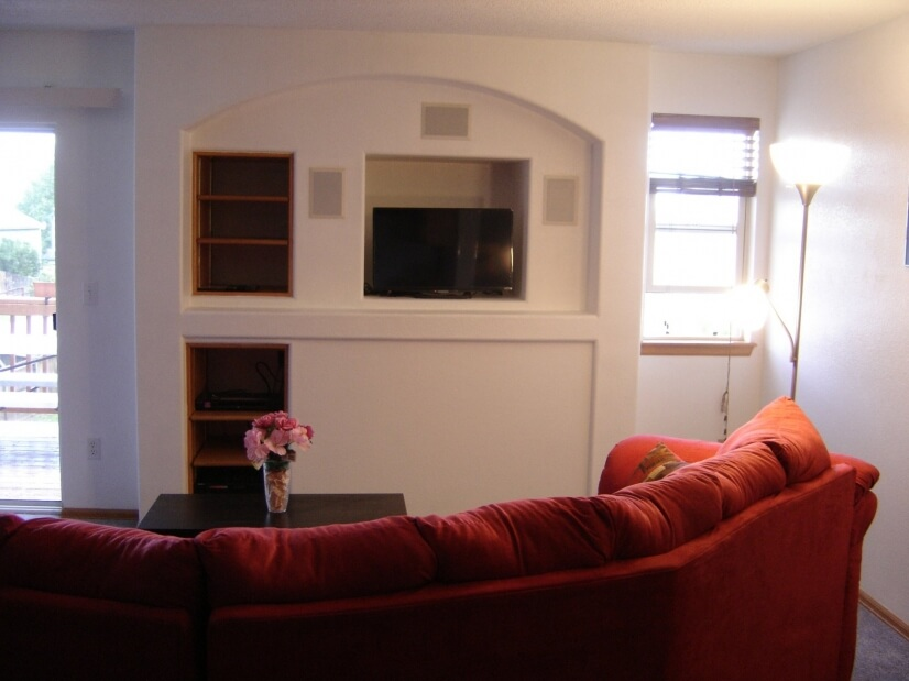 Main Level Family Room with Entertainment Center 1 of 3
