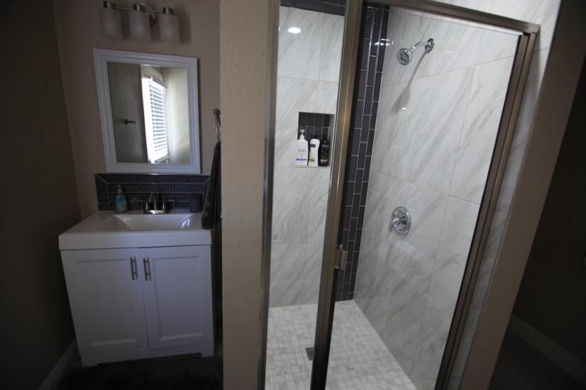 Main House Bathroom 3, Door Connecting to Backyard / Pool