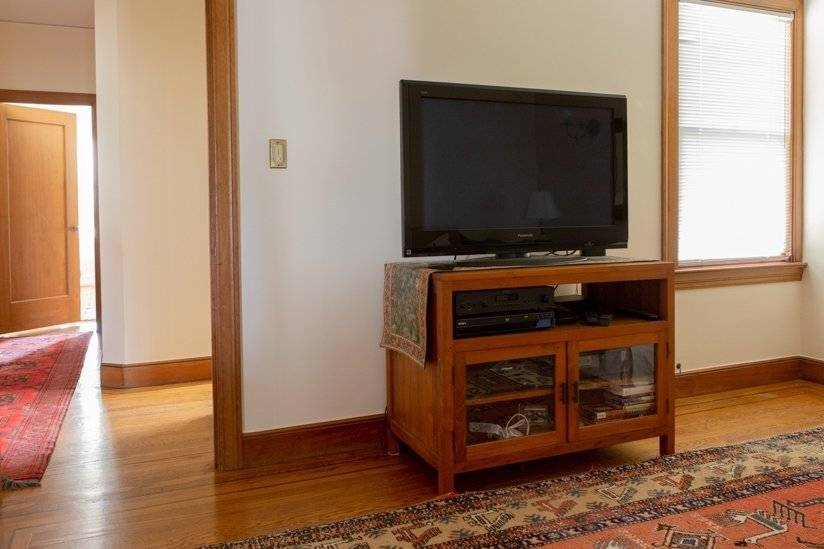 TV Den leading to bedrooms
