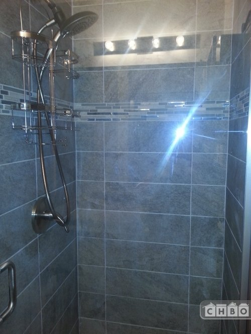 MASTER BR #2 ENSUITE W/ LARGE SHOWER, DUAL SHOWER HEADS-NEW!