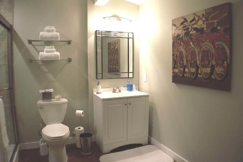 New large bathroom w/ adjustable lighting