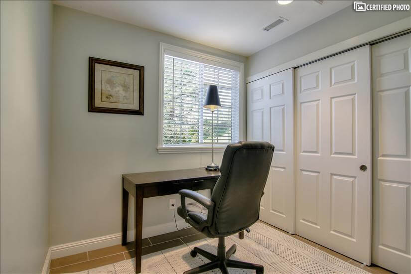 Office Area with Desk and Chair