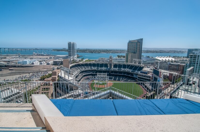 Roof top Stadium Seating Watch Padre and concerts from Roof