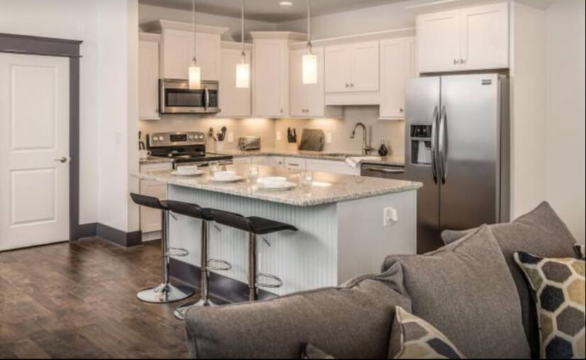 Open Kitchen with Brand New Stainless Steel Appliances