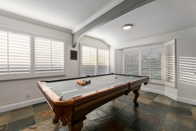 Pool table with new Felt