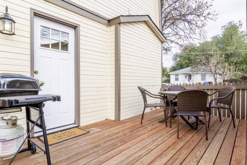 Deck with Grill and Seating