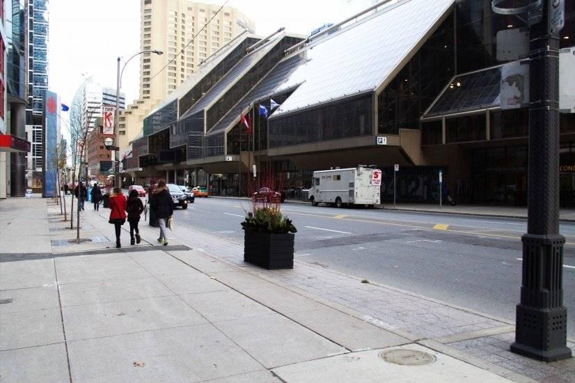Metro Convention Center across the apartment