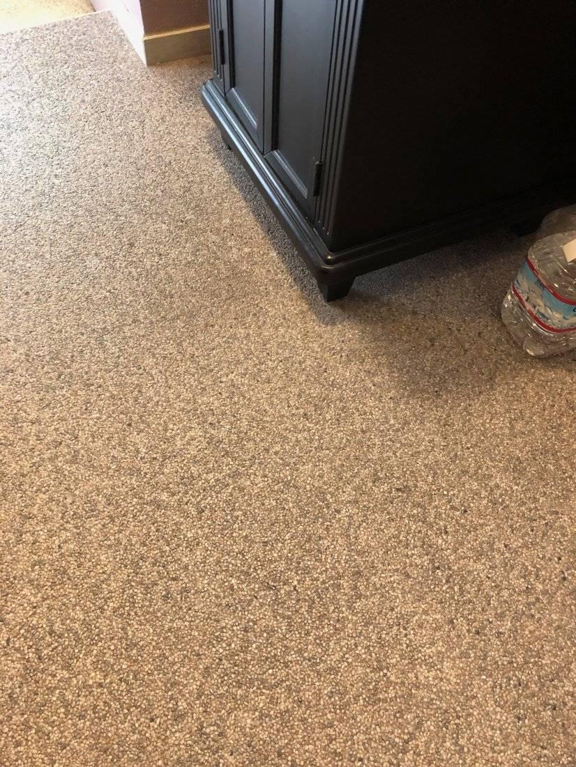 Poured Quartz and epoxy floor.