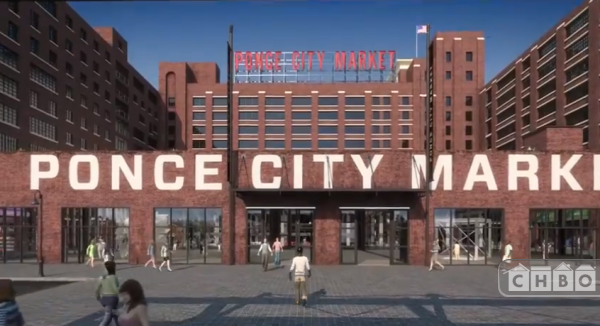 Ponce City Mark fab food court, shops, dancing goat coffee.