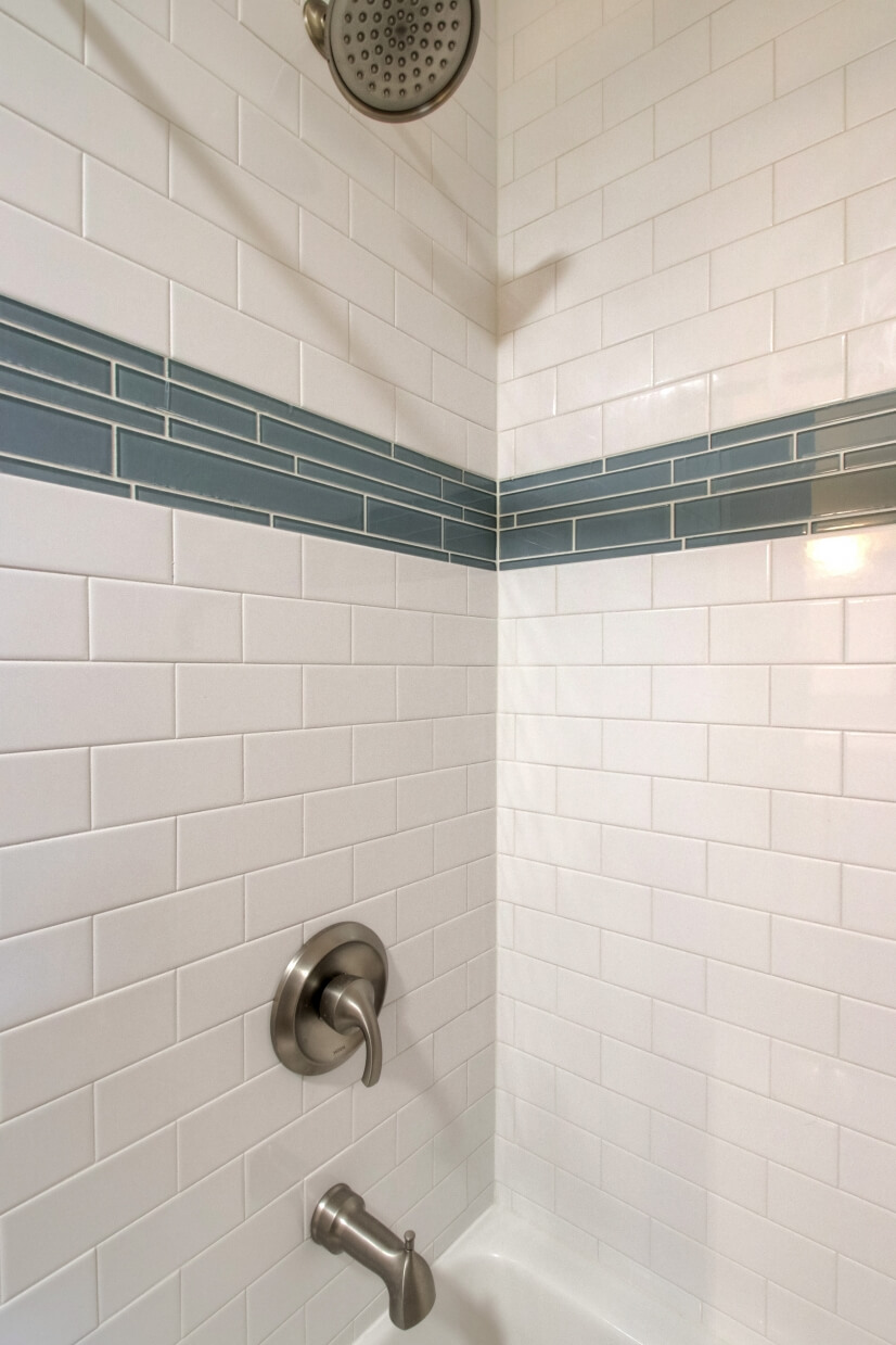 Beautiful brand new tiled shower
