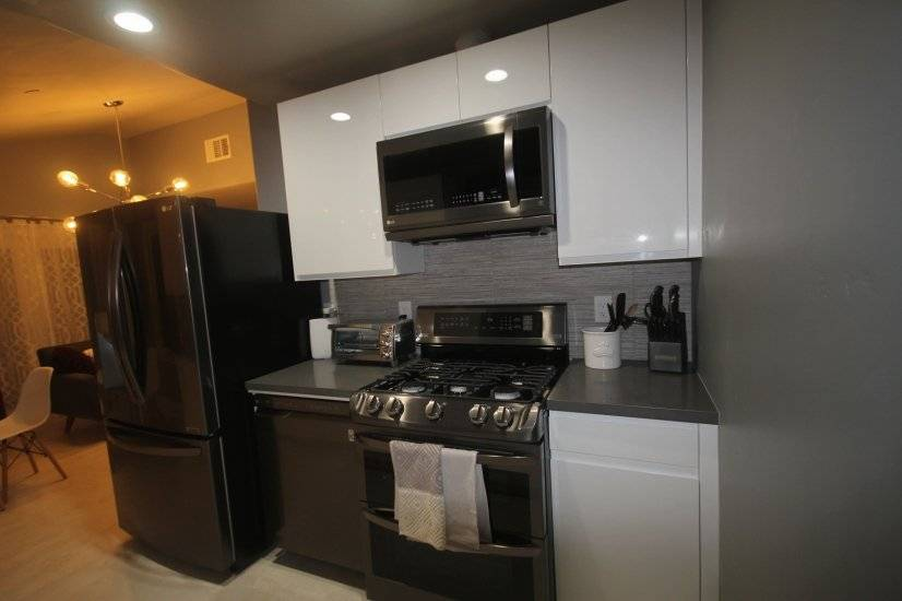 Gourmet kitchen with stainless steel LG appliances