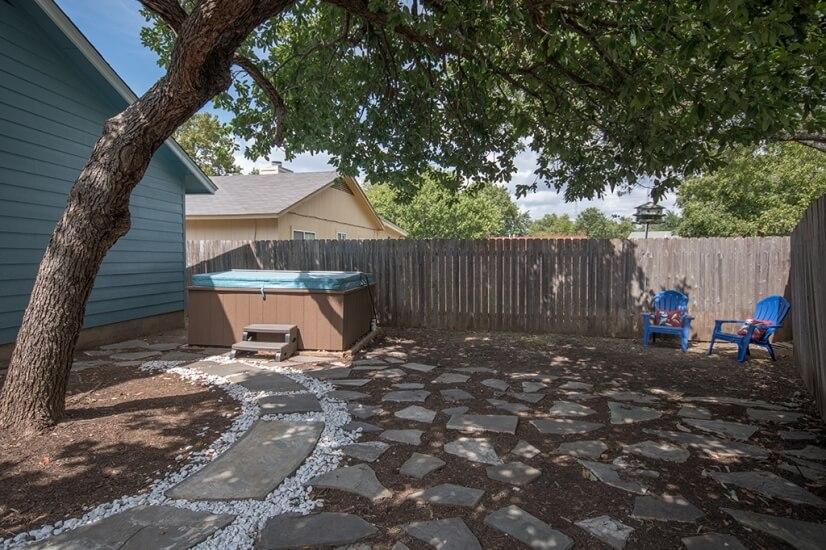 Backyard with Hottub