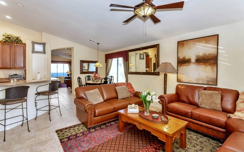 Cozy and comfortable  family room with access to the backyd