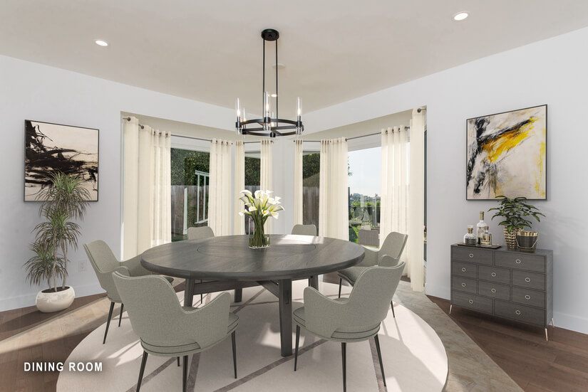 Dining Room -Virtually Staged
