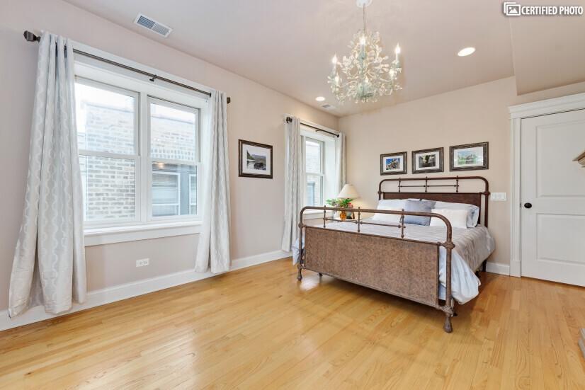 Sunlit master suite
