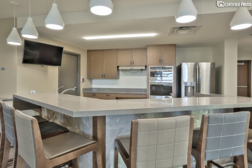 Kitchen for groups in Community Room