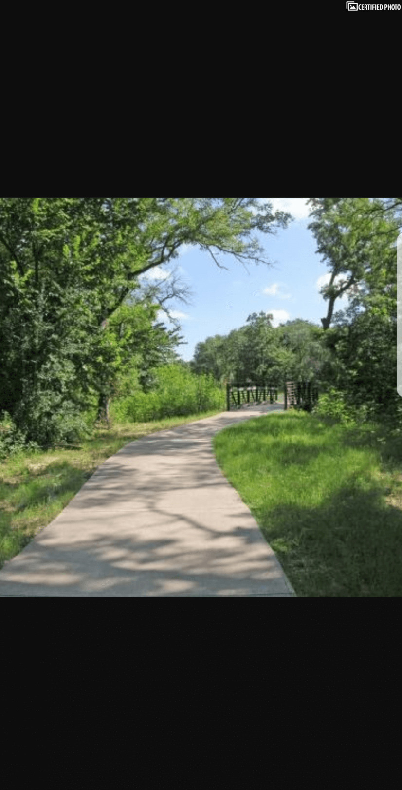 Nature trail for hiking and biking