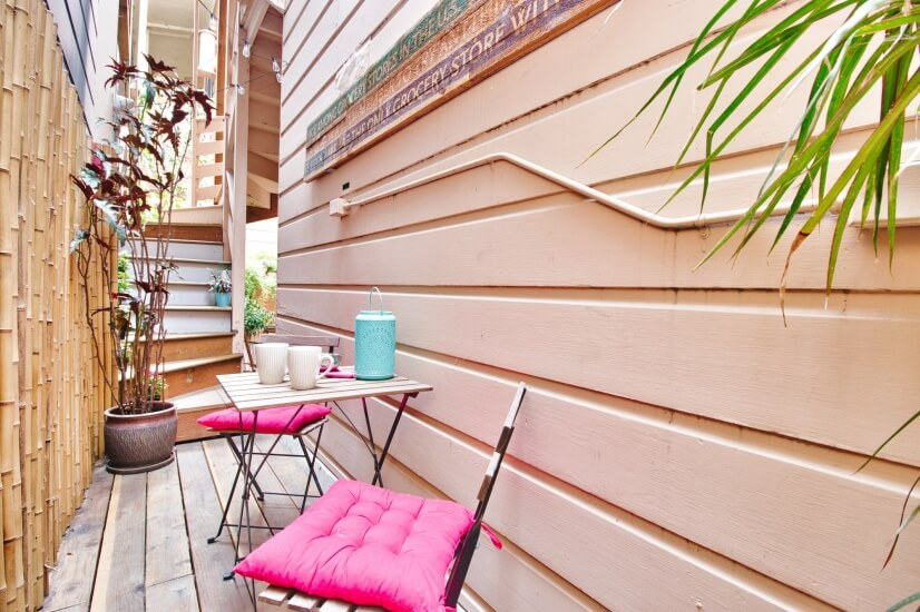Private patio for reading or enjoying your favorite drink