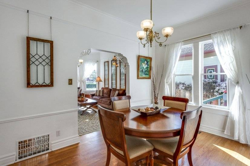 Formal dining room doubles as work space