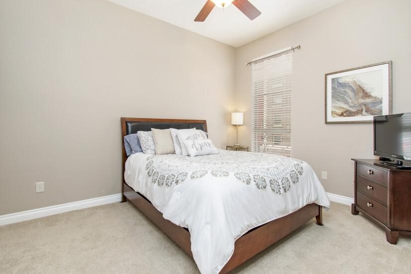 Flatscreen in guest bedroom