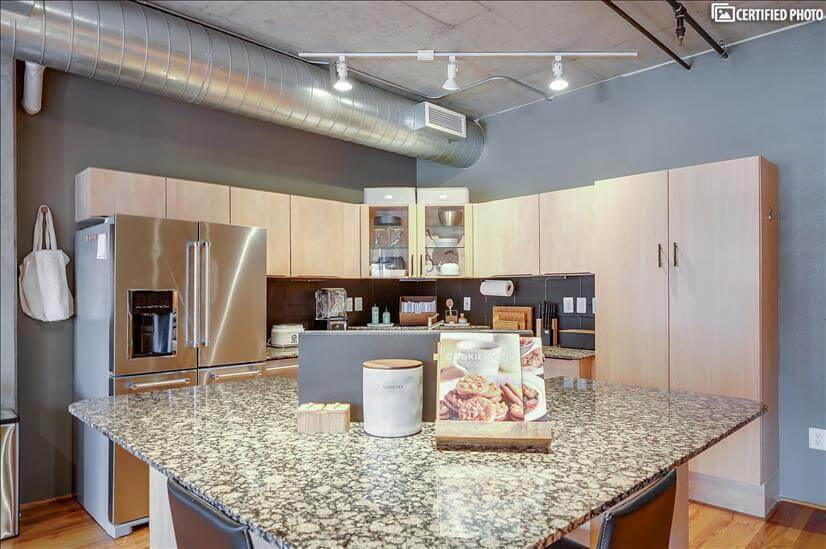Granite Counters and Island with seating