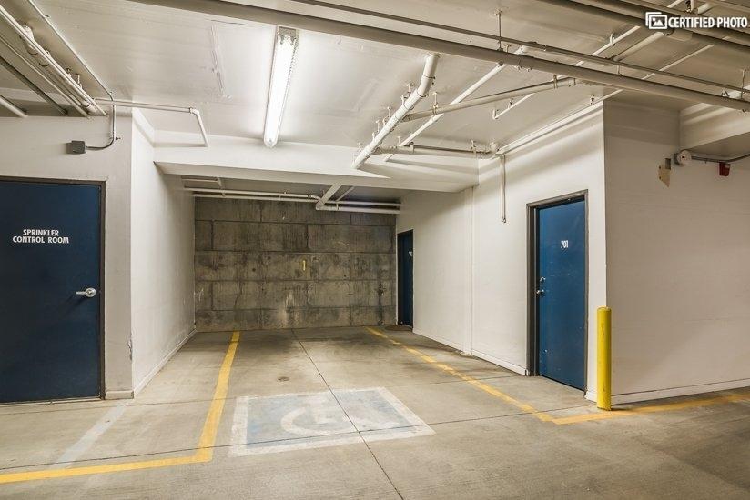 spacious parking space