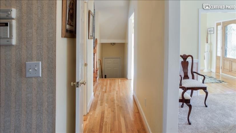 Hallway leading to Master suite