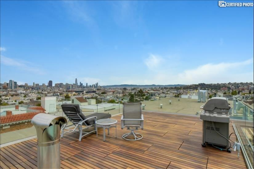 360 degree views of downtown SF, the SF Bay and neighborhood