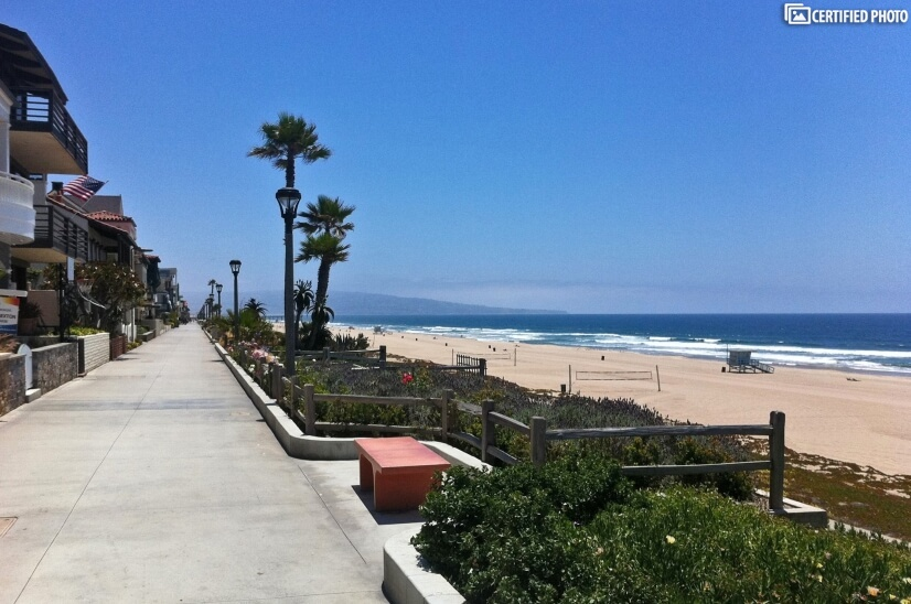 The Strand (pedestrian beach walkway close to the property).