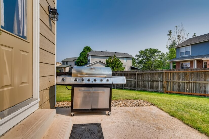 Five burner propane grill