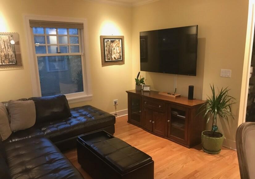 media room off kitchen